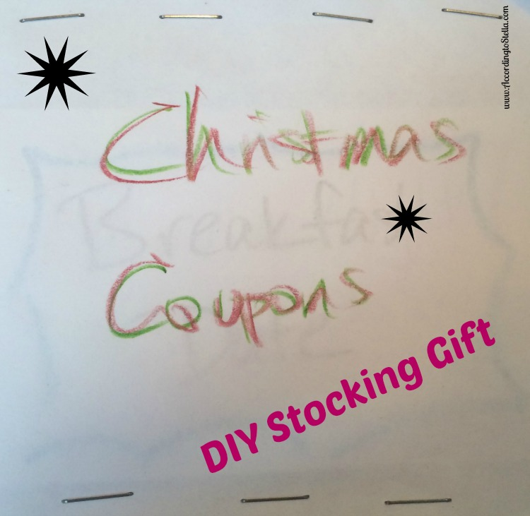 DIY Christmas Gift – Personal Coupons