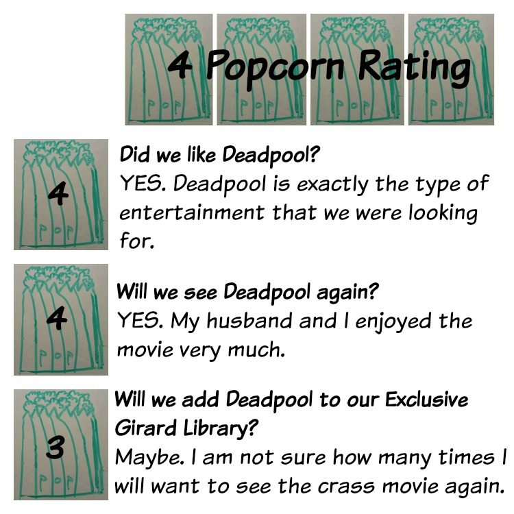 Popcorn Rating - Deadpool