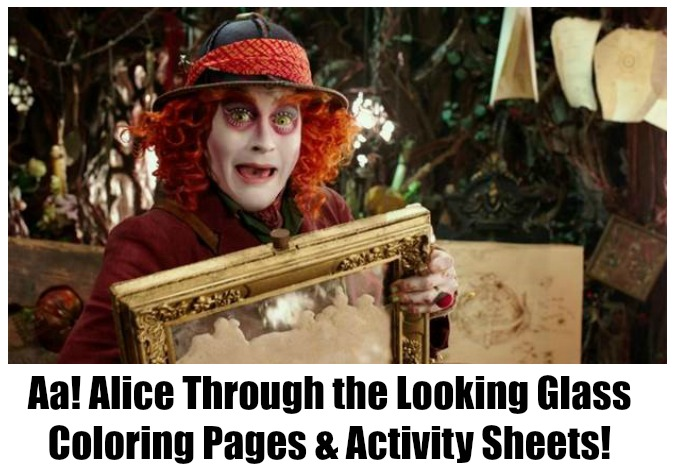 News: Alice/Looking Glass Activity Sheets!
