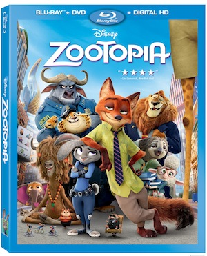 Zootopia Hits Home Theaters June 7