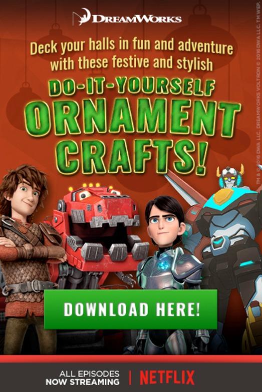 DIY DreamWorks Fun 3D Ornaments #dwanimation