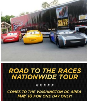 """CARS 3"" ROAD TO THE RACES ROLLS INTO WASHINGTON, DC – WEDNESDAY, MAY 10"