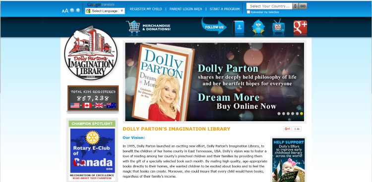 Dolly Parton Offers Free Kid's Books