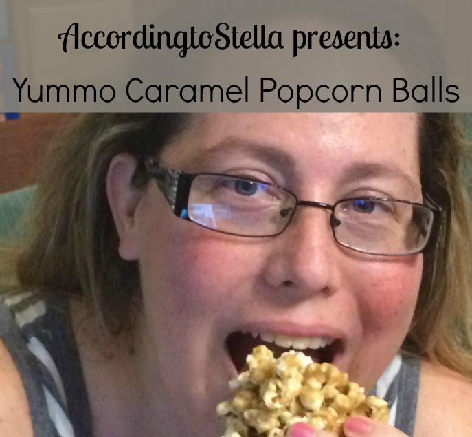 Caramel Marshmallow Popcorn Ball