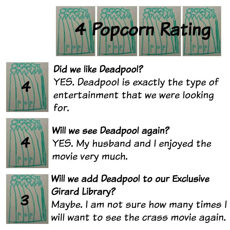 Popcorn Rating - Deadpool