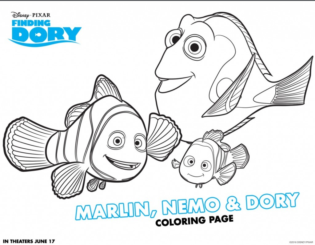 Have Fun with FINDING DORY Coloring Pages and Activity Sheets #FindingDory