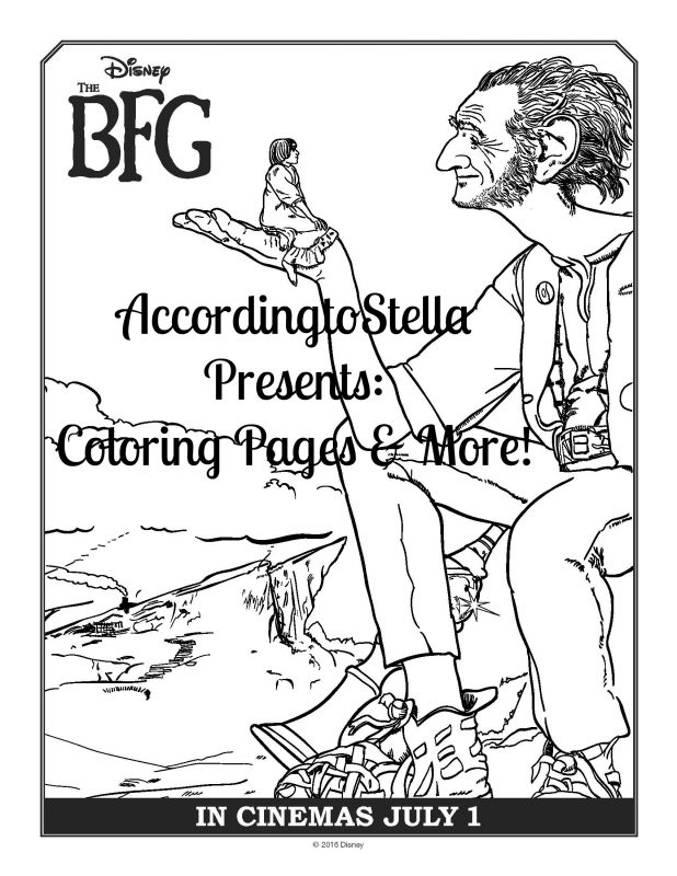 #TheBFG Coloring Pages & Activity Sheets