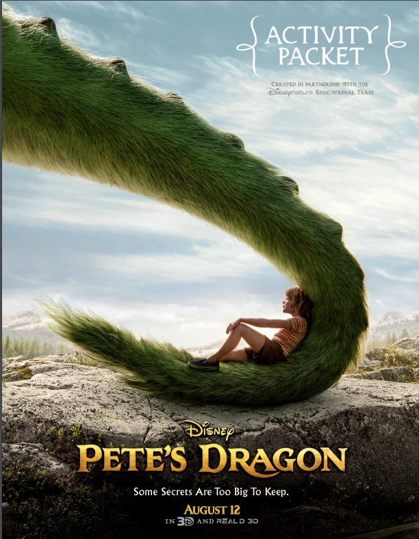 #PETESDRAGON – Activity Sheets & New Film Clips