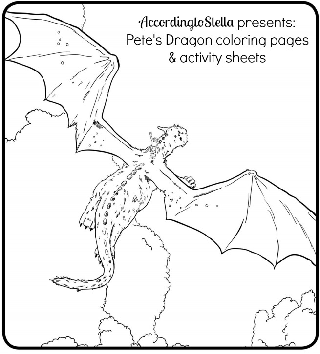 pete dragon coloring pages Pete's Dragon Coloring Pages & Clip   According to Stella pete dragon coloring pages