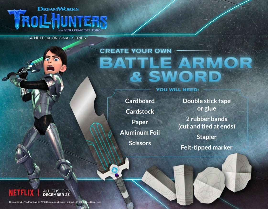 Diy Trollhunters Battle Armor Amp Sword Trollhunters