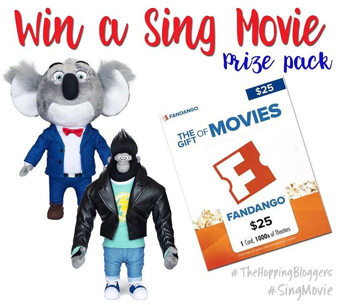 SING PRIZE PACK GIVEAWAY! #singmovie #thehoppingbloggers