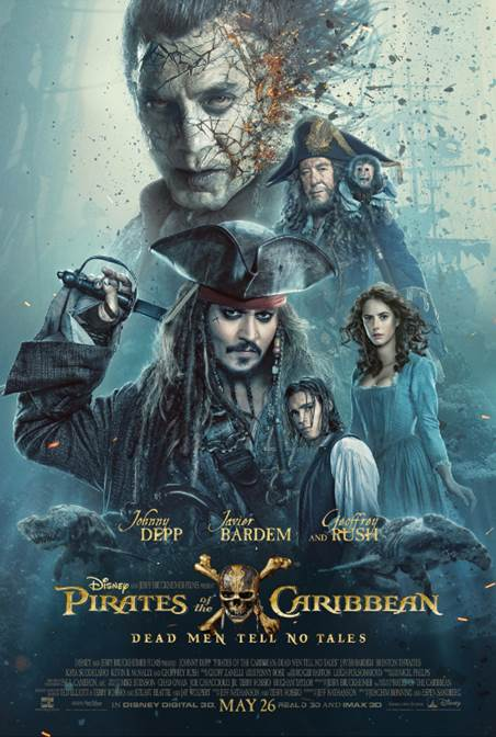 New Trailer and Poster: PIRATES OF THE CARIBBEAN: DEAD MEN TELL NO TALES #PiratesLife #PiratesOfTheCaribbean