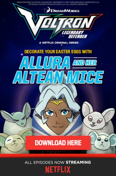 VOLTRON Easter Egg Activity Pages from DreamWorks #voltron