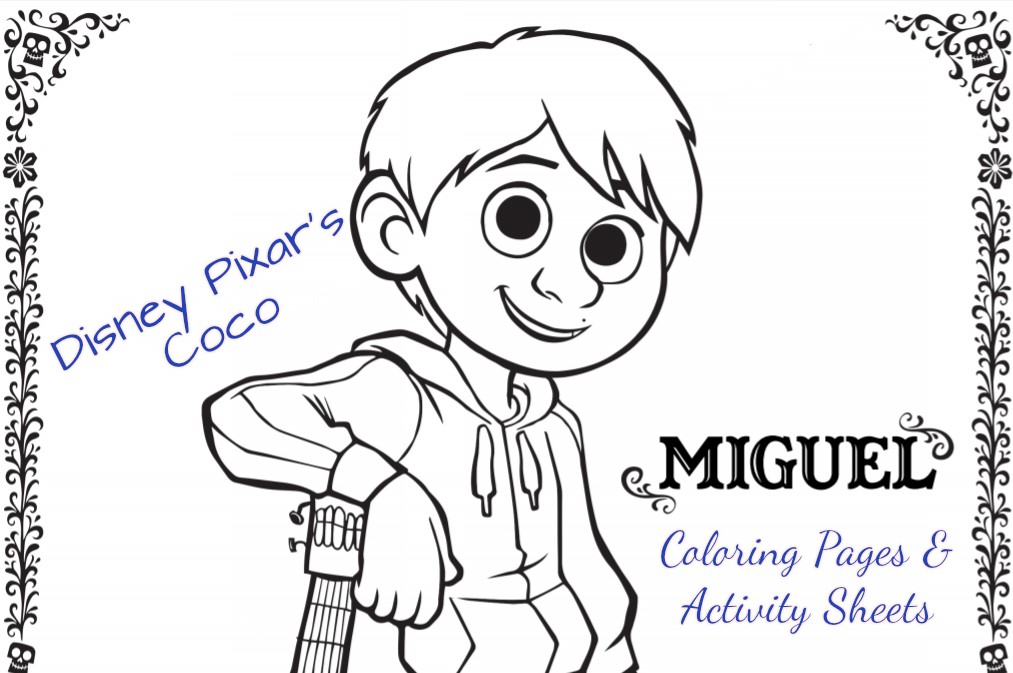 Fun Printable DisneyoPixars COCO Activity Pages PixarCoco
