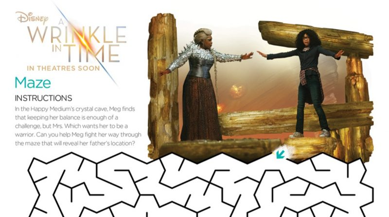 A Wrinkle in Time Activity Sheets #WrinkleInTime