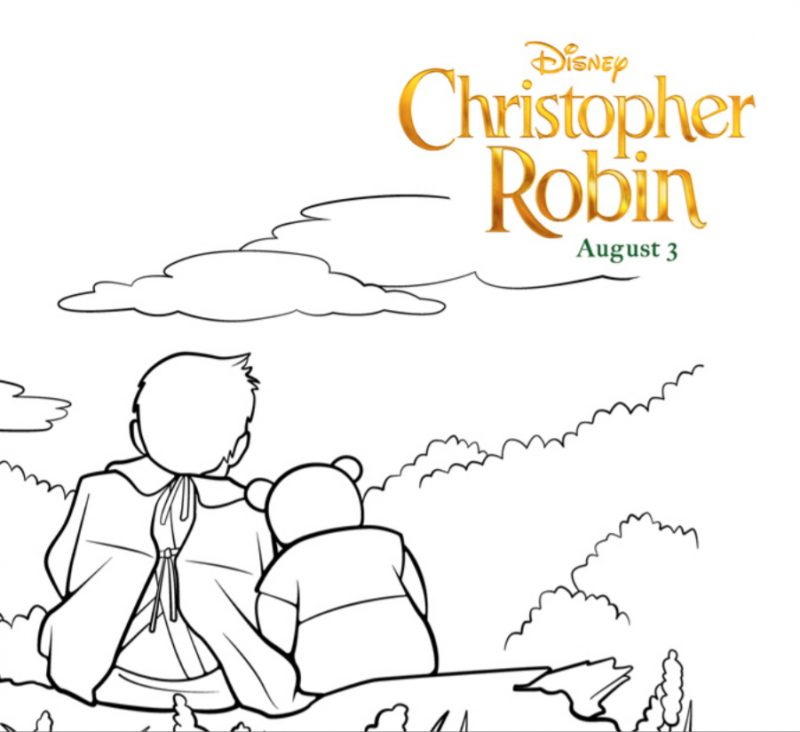 Christopher Robin Coloring Pages and More #ChristopherRobin