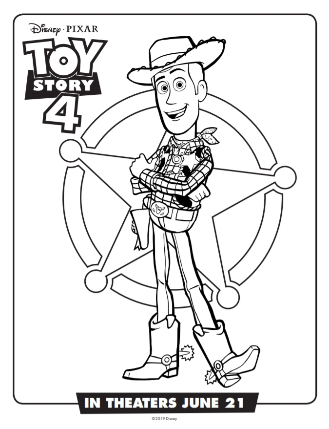 coloring page - woody2