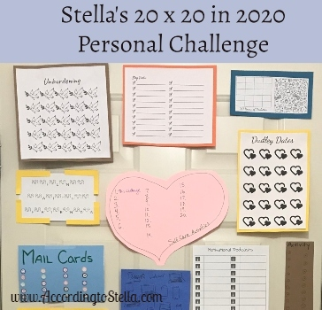 Stella's 20 x 20 in 2020 Challenge